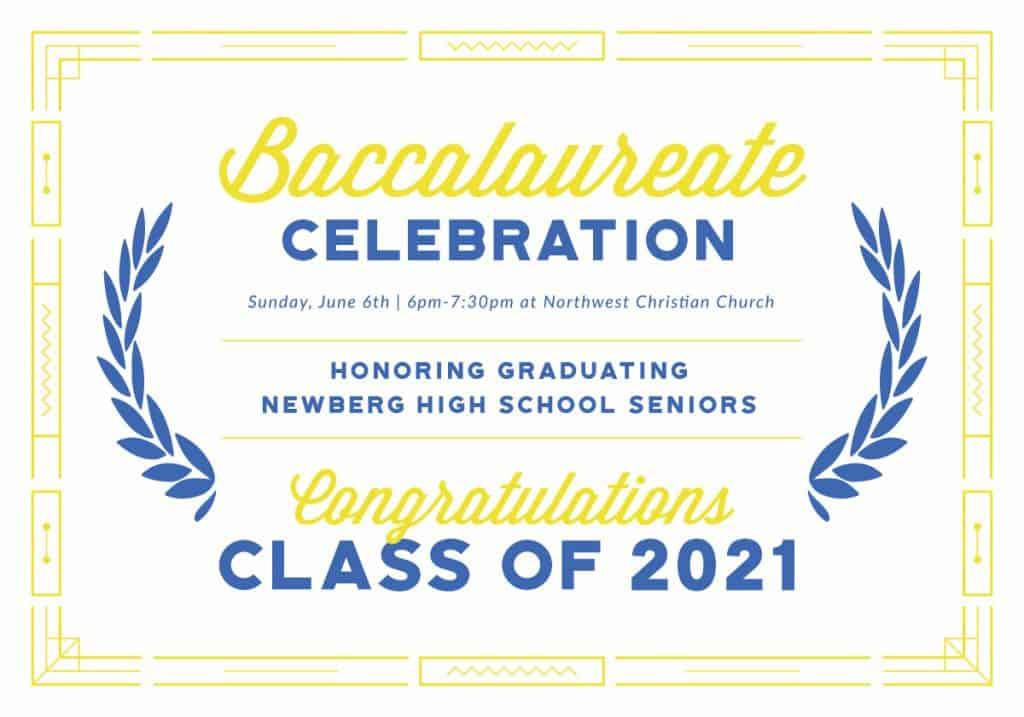 Baccalaureate Celebration Newberg High School 2021