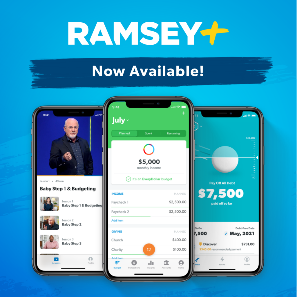 Ramsey Plus Now Available - Financial Peace University - NCC